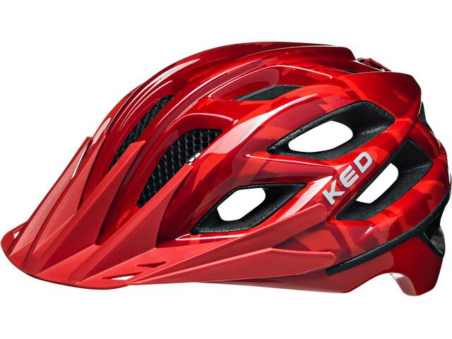 KED Companion Pyöräilykypärä , punainen